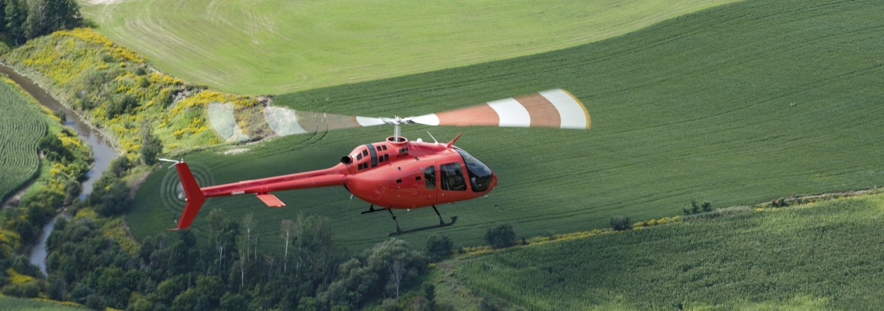 Bell Helicopters - Bell 505 JRX in flight
